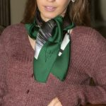 green window, silk elegant scarf