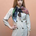 Window 90 silk scarf multicolor-geometrical pattern collection by Tita Hellas