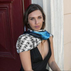 100% Organic silk foulard unisex