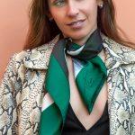 green window scarf, luxury silk fashion by Tita Hellas made in Greece