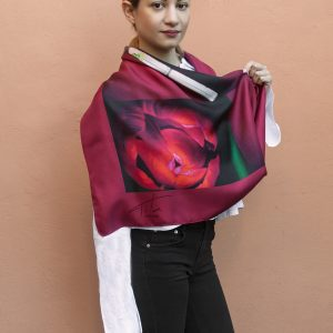 Red hot tulips silk scarf for men and women.Buy it Now! Perfect gift for ST. Valentines day!