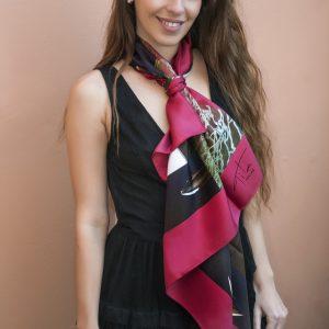 Tita Hellas silk scarf, for men and women geometric patterns