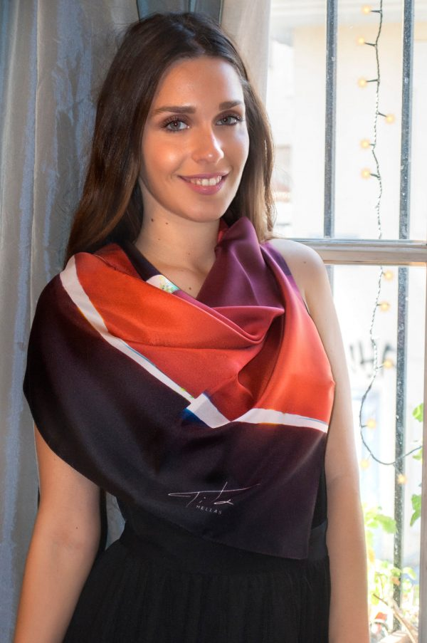 Arrows,Red Black foulard for him & her,