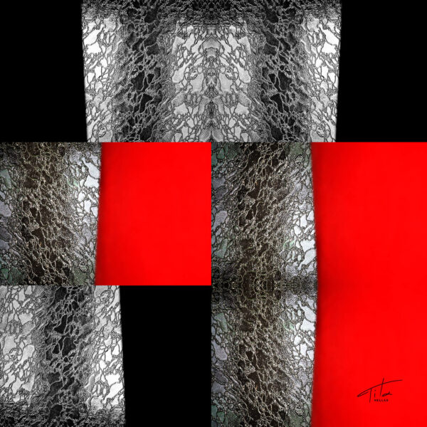 Geometric pattern. Designer's scarf by Tita Hellas.Greek product.
