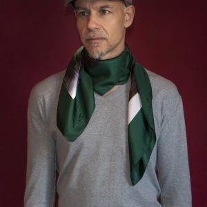 Green Window silk foulard 90 Unisex