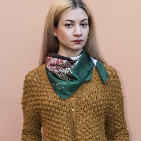 WindowGreen_Handmade Silk scarf70