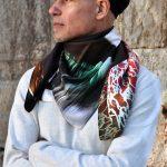 Window scarf-silk colorful unisex scarf by Luxury Brand Tita Hella