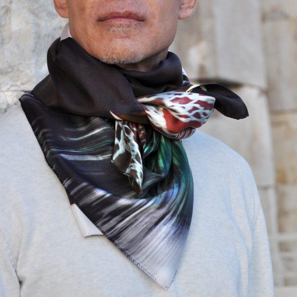 window-scarf Geometry collection multicolor, by Tita Hellas